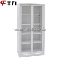 Sliding Glass Door Filing Cabinet for Office