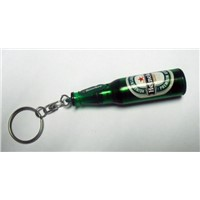 led beer bottle projector keychain