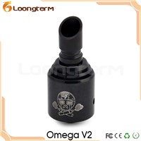 New Omega V2 Muffler Rebuildable Dripping black Omega V2  Atomizer with airflow control