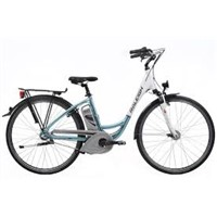 Raleigh Dover Three Speed Electric Bike in Blue and White DV345UBL