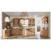Red Oak Bay-solid wood kitchen cabinet