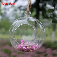 Top Popular Glass Ball Terrarium Candle Holder and Vase Beautiful Wedding Hanging Decorative