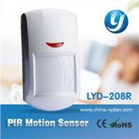 Wireless PIR sensor and motion detector