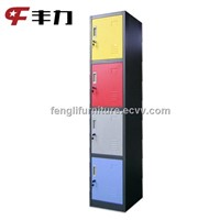 4 door colorful decorative storage locker cabinet