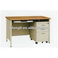 Steel Office Computer Desk with Cabinet