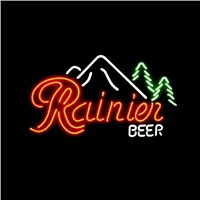 New T13 RAINIER BEER handicrafted real glass tube neon light beer lager bar pub club sign