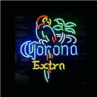 New T49 CORONA EXTRA handicrafted real glass tube neon light beer lager bar pub club sign.