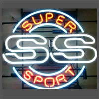New T63 SS SUPER SPORT handicrafted real glass tube neon light beer lager bar pub club sign.