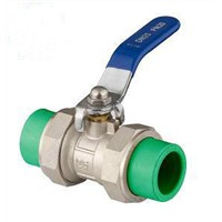 ppr valve with double union