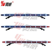 red blue slim led strobe lightbar