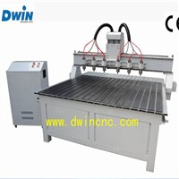 DW1816 Economical Factory Price 3d Six Heads Wood Carving CNC Router