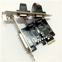 PCI Epxress PCI-E to 2 port Serial and 1 port Parallel Host Card Adapter(MCP9901))