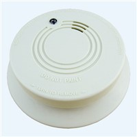 Smoke Detector, EN14604 Mark with 9V Dry Battery, Test Button, High-sensitivity and Connector