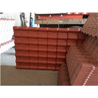 spanish design teja with PMMA coating plastic roofing tile