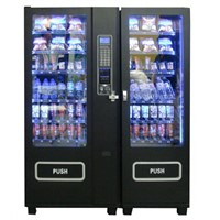 Combo Vending Machine Combine for Snacks Drinks Coin Note Operated