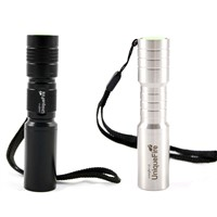 Leading factory cree led rechargeable stainless steel flashlight