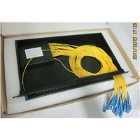 PLC splitter in 19inch rack mount patch panel