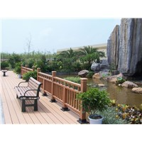 Durably wood plastic decorative garden fencing