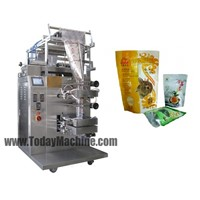 Automatic vertical standup pouch filling sealing packing machine