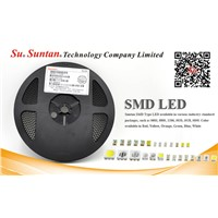 Suntan SMD LED 1206 Serie Blue Color TSL-1206UB000MTH