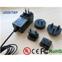 UL,CE,KC,CB,ROHS approved 17v ac adapter interchangeable plug power adapter for led light