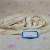 Raw White 100% Tussah/Mulberry Silk Tops