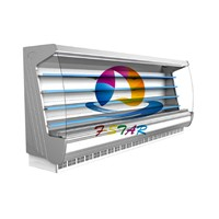 Air curtain refrigerated cabinet