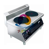 Electric hot plate with 2 head