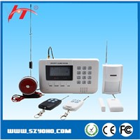 wireless GSM auto dial SMS alarm system,GSM and PSTN dual network home security burglar alarm system