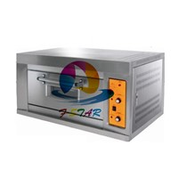 Gas baking oven with 1 layer and tray