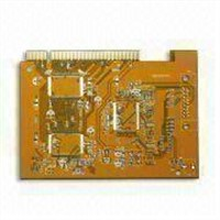 HASL Printed Circuit Board with Immersion Gold Finger, 0.2mm Minimum Board Thickness