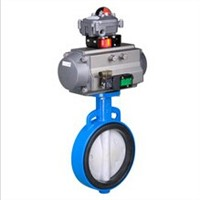 China soft seat/metal seat butterfly valve with pneumatic actuator