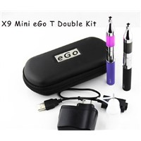 X9 Mini eGo T Double kit e cig with Mini X9 Protank