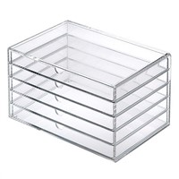 clear acrylic 5 drawer storage wholesale