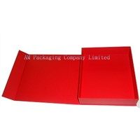luxury red rigid paper box with magnet for gift packaging wholesale