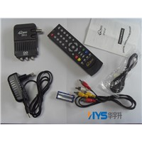 2012 New Digital Satellite TV Mini receiver DVB-S / DVBS TV Tuner Box USB Port