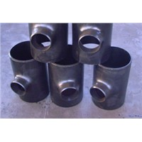 "20"" Equal tee reducer tee butt-welding carbon steel ANSI B16.9 ASTM A234 WPB pipe fitting"