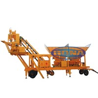 YHZS25 portable concrete batch plant, portable concrete batch plant features