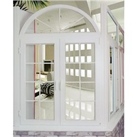 Conch profile PVC window and door with arch top