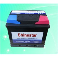 12V55AH  Maintenance free Automotive battery