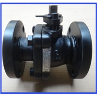 JIS10K 2 piece cast iron ball valve with handle lever hot sale in Asian