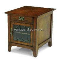 Wooden/Veneer/Glass/Metal End Cabinet