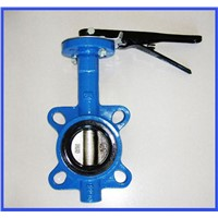 sanitary plastic hand butterfly valve with gear