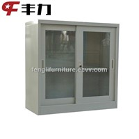 Small Sliding Door Metal Glass Cabinets