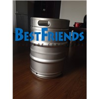 BestFriends US 1/2 Beer Keg made by 304 Stainless Steel with Rolling Ring