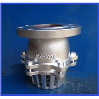 good price stainless steel foot valve with strainer