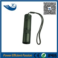 3.7v mini long range high power rechargeable led flashlight