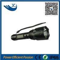 IP65 3.7v 300LM reachargeable long range led flashlight torch