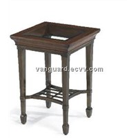 Wooden/Metal/Glass Accent Table
