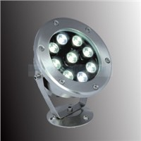 DMX512 LED Underwater Light, DC12V/24V, 9W, IP68, SUS304, 3 Years Warranty